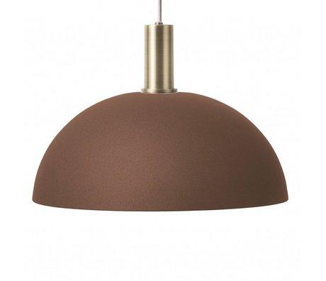 Ferm Living Hängelampe Dome Low rot braun messingfarben goldfarben Metall