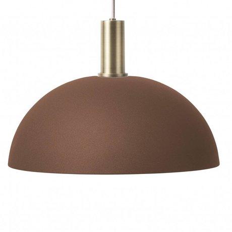 Ferm Living Hanging lamp dome lav rød brun messing guld farve metal