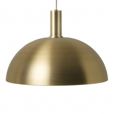 Ferm Living Hanging Lamp Dome Low gold metallic color metal