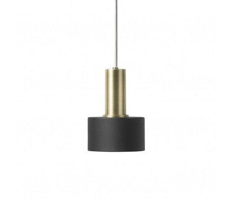 Ferm Living Lampada a sospensione Disco in metallo color ottone dorato a basso tenore di ottone