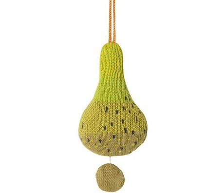 Ferm Living Mobile with music Fruiticana Pear cotton Ø9cm