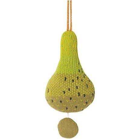 Ferm Living La musique mobile Fruiticana coton poire Ø9cm Brosse