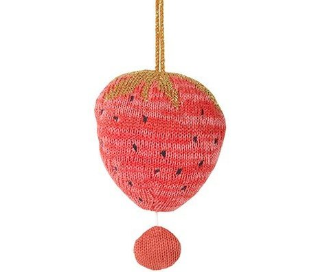 Ferm Living Mobil musik Fruiticana Strawberry bomuld Ø9cm Brush