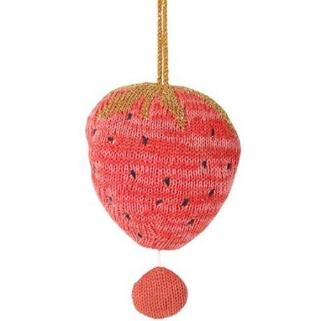 Ferm Living Mobile mit Musik Fruiticana Strawberry Baumwolle Ø9cm