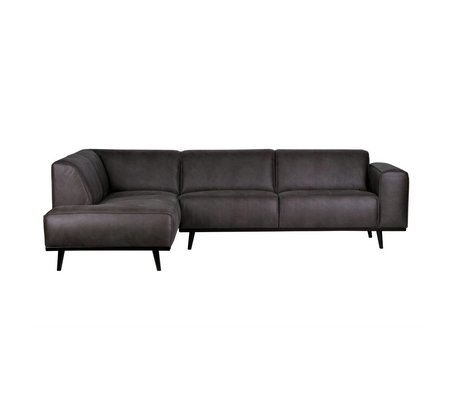 BePureHome Sofa Statement corner sofa left gray eco-leather 77x274x210cm