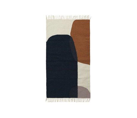 Ferm Living Tapis Kilim Merge laine coton 80x140cm