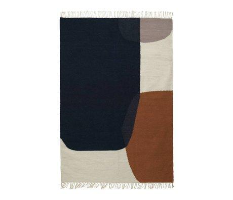 Ferm Living Alfombra Kilim Combinar lana de algodón 140x200