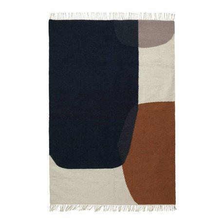 Ferm Living Tapis Kilim Merge Coton Laine 140x200