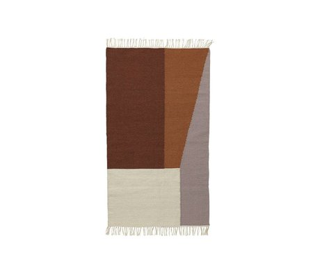 Ferm Living Carpet Borders kilim cotton wool 80x140cm