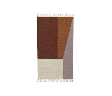Ferm Living Teppich Borders Kelim Baumwolle Wolle 80x140cm