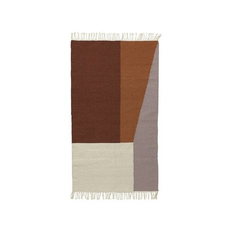 Ferm Living Alfombra Borders algodón kilim 80x140cm lana