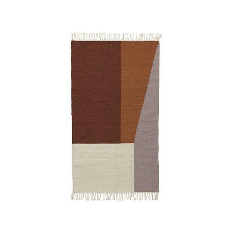 Ferm Living Tapis frontières laine coton Kilim 80x140cm