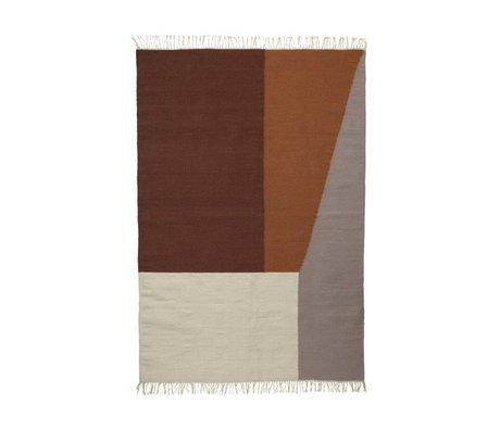 Ferm Living Carpet Borders kilim cotton wool 140x200cm