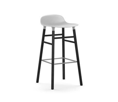 Normann Copenhagen Tabouret forme blanche 53x45x87cm bois en plastique noir