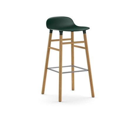 Normann Copenhagen Sgabello forma plastica verde marrone quercia 45x45x87cm