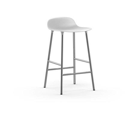 Normann Copenhagen Barstuhl Form weiß Kunststoff Chrom 43x42,5x77cm