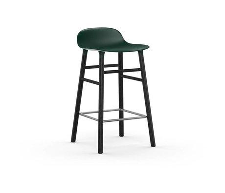 Normann Copenhagen forme Tabouret bois vert en plastique noir de 43x42,5x77cm