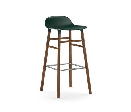 Normann Copenhagen Tabouret forme de bois 45x45x87cm plastique vert brun