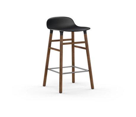 Normann Copenhagen Barstool formular sort brun plast tømmer 43x42,5x77cm