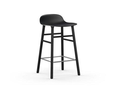 Normann Copenhagen Barstuhl Form schwarz Kunststoff holz 43x42,5x77cm