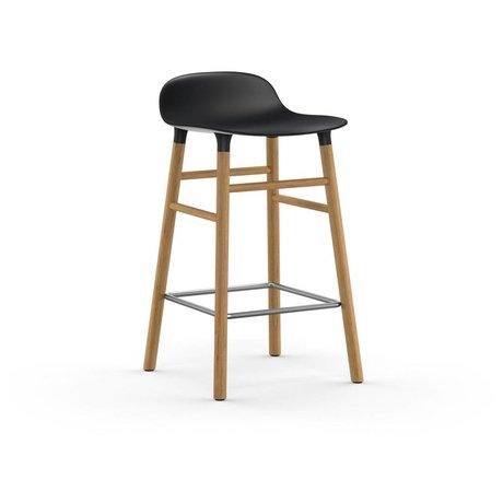 Normann Copenhagen Barstuhl Form schwarz braun Kunststoff Eiche 43x42,5x77cm