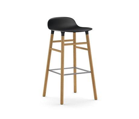 Normann Copenhagen Barstuhl Form schwarz braun Kunststoff Eiche 45x45x87cm