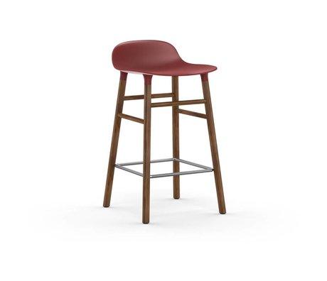 Normann Copenhagen Barstuhl Form rot braun Kunststoff holz 43x42,5x77cm