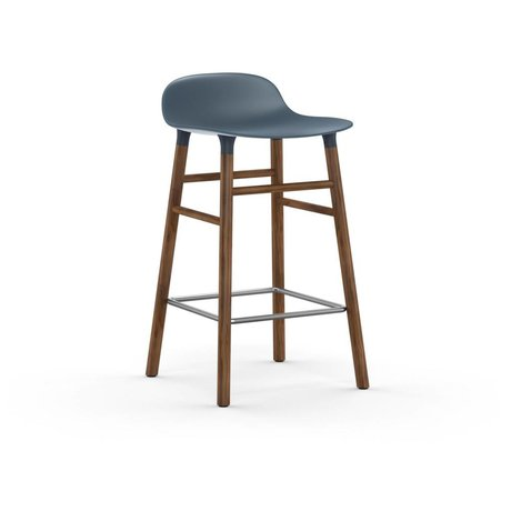 Normann Copenhagen Barstool formular blue brun plast tømmer 43x42,5x77cm