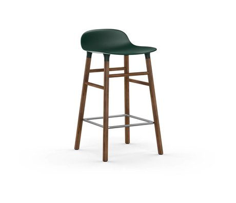 Normann Copenhagen Formulaire de bois Tabouret plastique vert brun 43x42,5x77cm