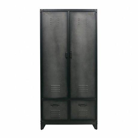 vtwonen Spind schwarz Metall 190x90x50cm