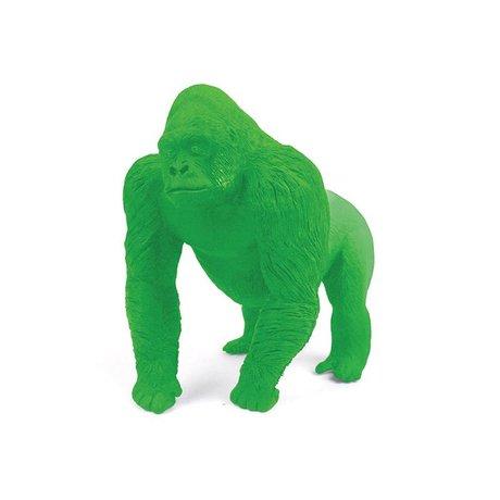 LEF collections Gorilla viskelæder, grøn, L9cm