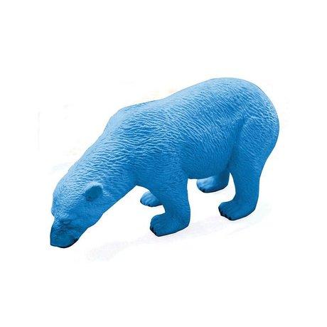 LEF collections Eraser ours polaire, bleu, L12cm