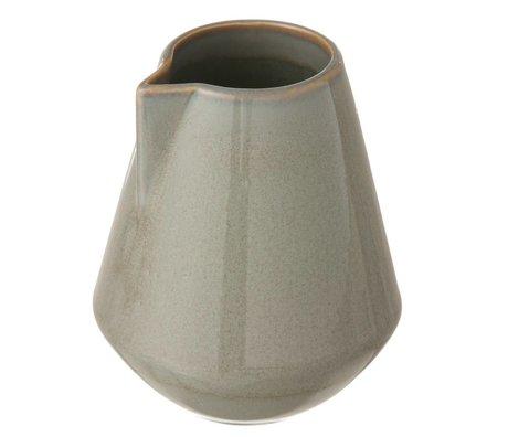 Ferm Living La nueva piedra esmaltada jarra, gris, pequeño Ø9x10,5cm