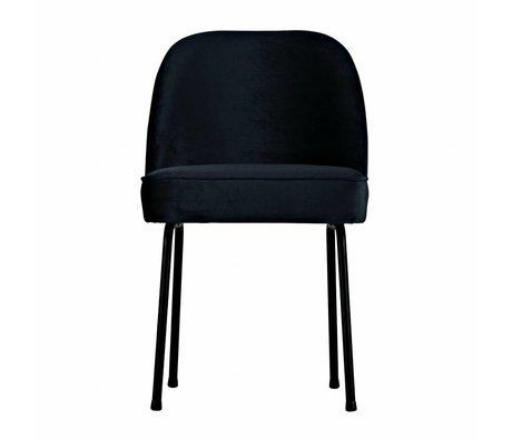 BePureHome Vogue silla de comedor de terciopelo de tinta