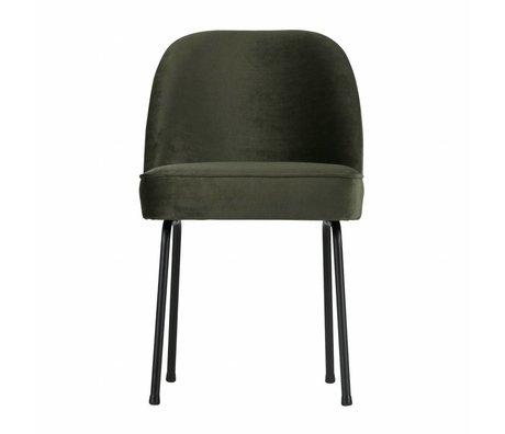 BePureHome Vogue dining chair velluto onice