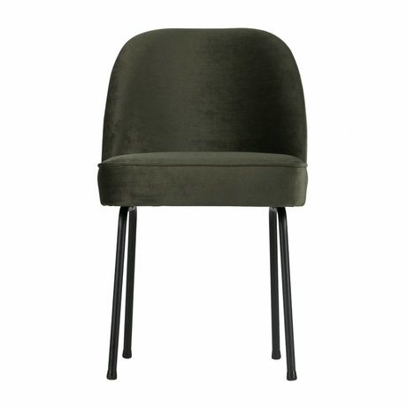 BePureHome Vogue dining chair velvet onyx