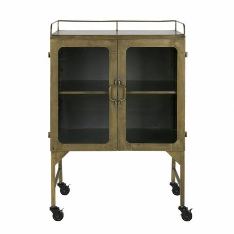 BePureHome Talent metal cupboard antique brass