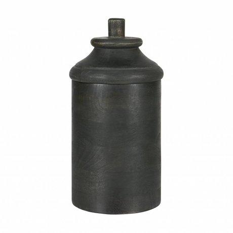 BePureHome Pot di legno grigio caduto l
