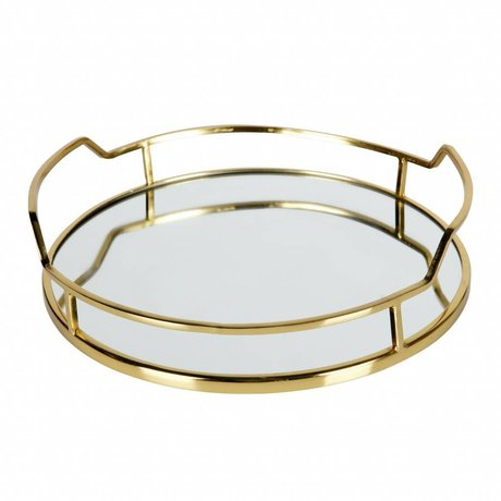 BePureHome Luxurious tray of metal gold