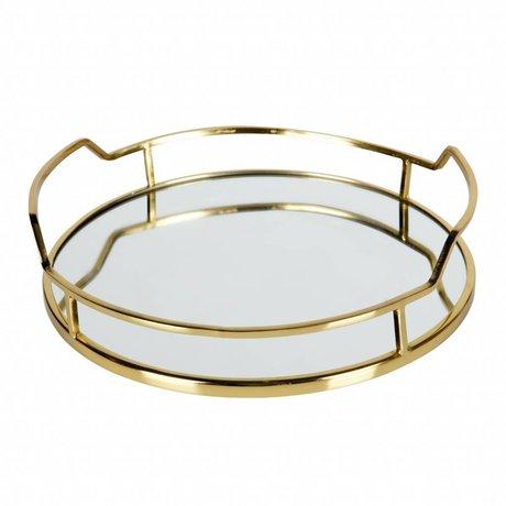 BePureHome Vassoio lussuoso in metallo dorato