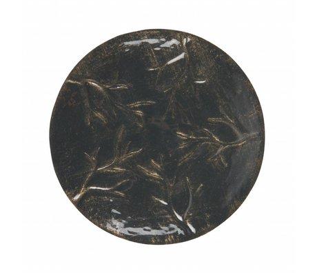 BePureHome Tazón de acento metal negro m