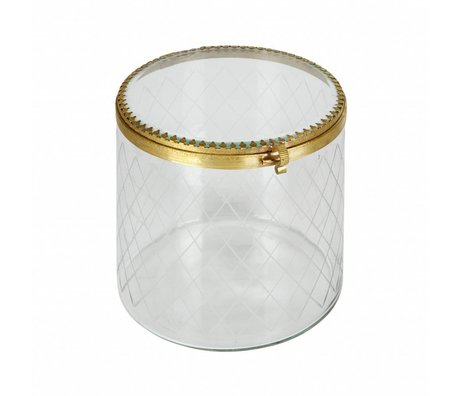 BePureHome Bijoux trop boîte ornemental métal / verre laiton