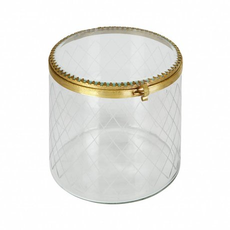 BePureHome Jewels too ornamental box metal / glass brass