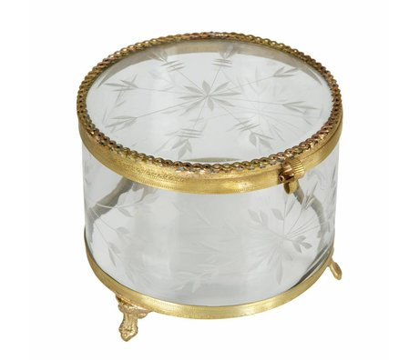 BePureHome Jewels zierat box metall/glas brass