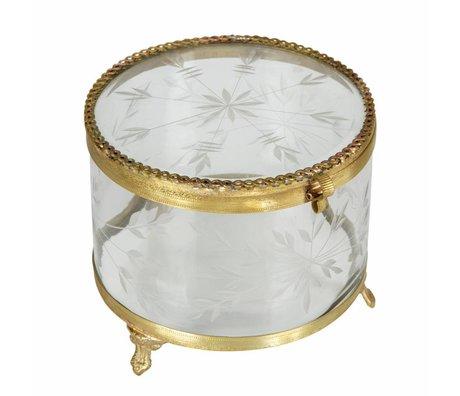 BePureHome Joyas ornamentales caja metal / vidrio latón