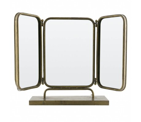 BePureHome Anonymous mirror metal antique brass