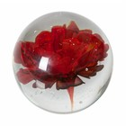 BePureHome Botanics fleur en verre rouge ø8cm