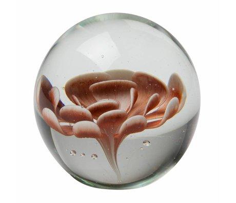 BePureHome Botanik blomst i glas brun ø9,3cm