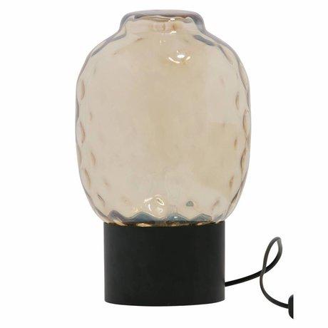 BePureHome Lámpara de mesa burbuja xl latón antiguo