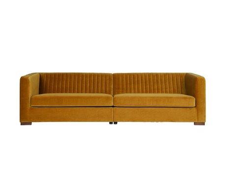 BePureHome Nouveau sofa xl fløjl sennep